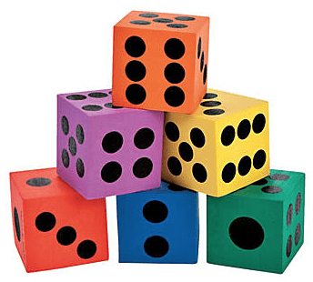 Colorful Giant Playing Dice