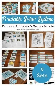 10 Solar System Pictures, Activities & Games Bundle