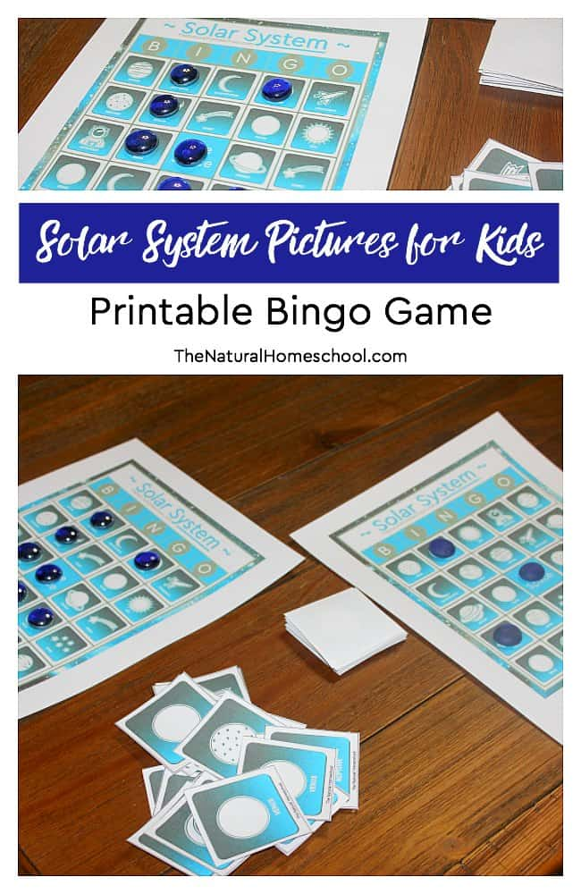 We are excited about learning as much as we can about the Solar System. But why not add some fun while learning? In this post, we not only share Solar System pictures, but we also have an awesome Solar System Bingo game! Kids will love it!