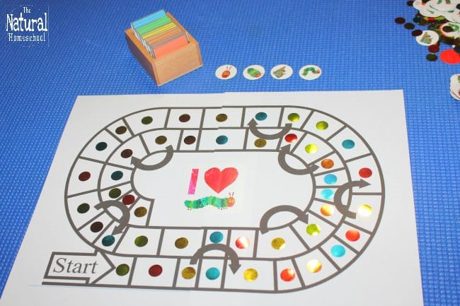 I am so excited to share with you our Eric Carle The Very Hungry Caterpillar printables ~ Board Game Edition.