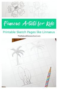 Famous Artists for Kids ~ Printable Sketch Pages like Linnaeus