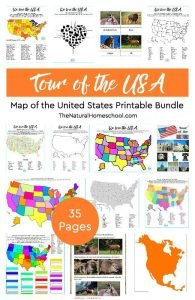Tour of the USA ~ Awesome Map of the United States Printable Bundle