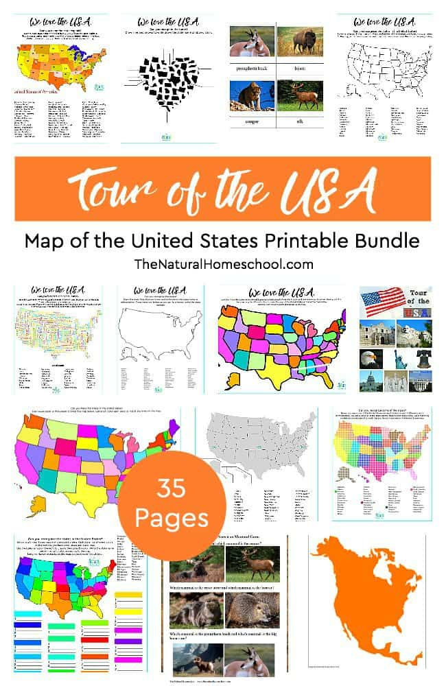 This is another fun set on our Tour of the USA series ~ Map of the United States Printable Bundle! Let us show you this amazing unit on the beautiful country of the United States.