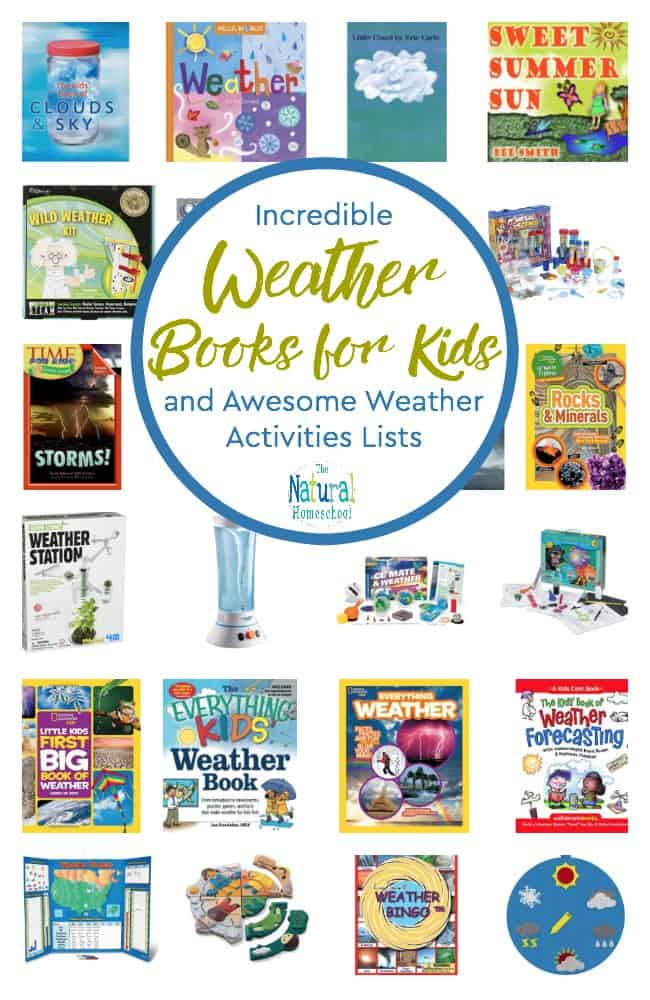 Welcome to our Incredible Weather Books for Kids and Awesome Weather Activities Lists post! This is one of the most fun posts to put together because you practically have months' worth of lessons and amazing activities that will begin with introducing weather words for kids to remember all the way to learning to forecast weather!