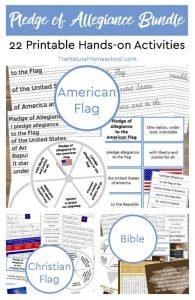 Mega Bundle: 22 Pledge of Allegiance to the American Flag, Christian Flag and the Bible