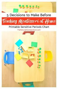 5 Decisions to Make before Teaching Montessori at Home {Printable Sensitive Periods Chart}