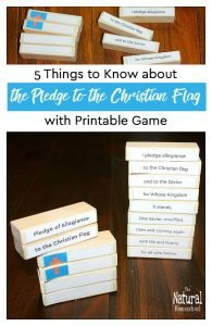 5 Things to Know about the Pledge to the Christian Flag {Printable Game}