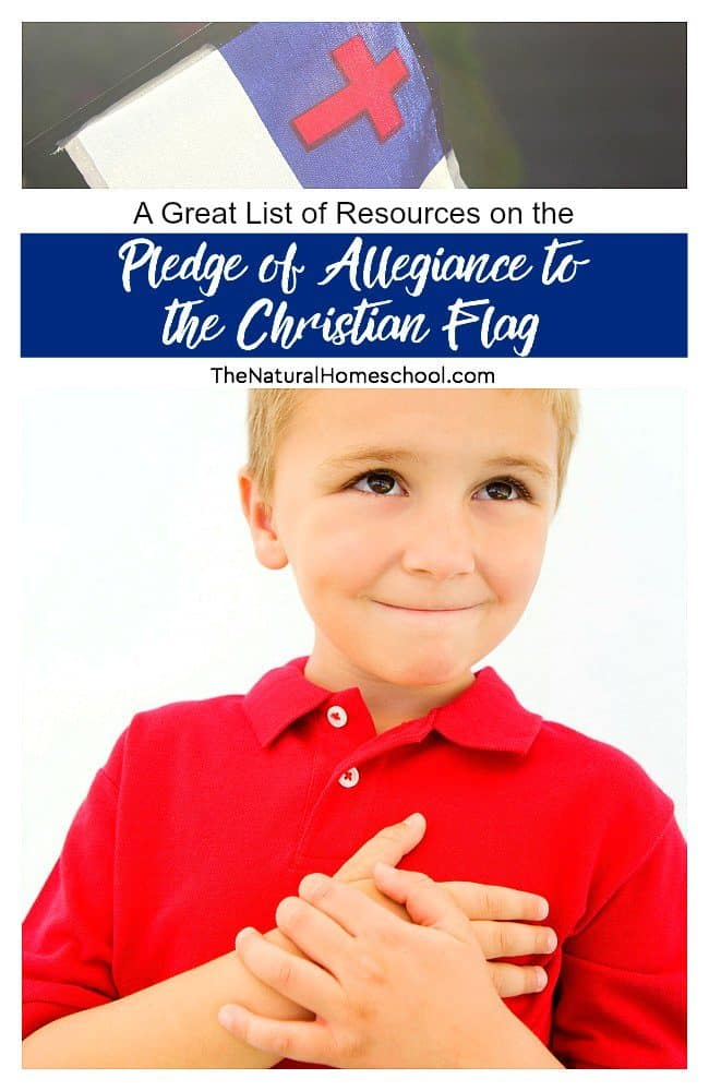 Many parents that read my blog have been asking for some Christian flag Pledge of allegiance resources to help them incorporate it into their homeschool schedule.