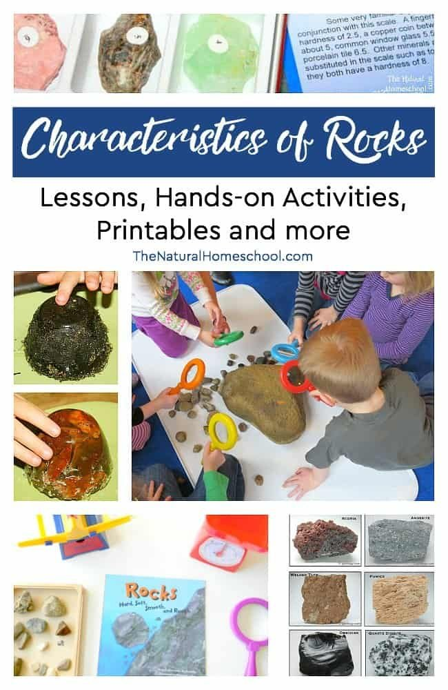 Have rock lovers at home? Are your kids fascinated with rock collecting and Science experiments? In this post, we will be sharing some fantastic characteristics of rocks! We include a list of fun lessons, hands-on activities (including experiments), helpful printables and more!
