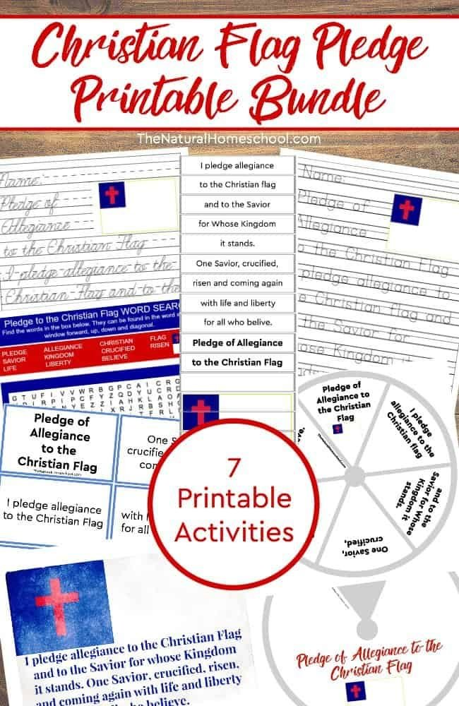 image relating to Pledge of Allegiance in Spanish Printable called 7 Printable Christian Flag Pledge of Allegiance Routines