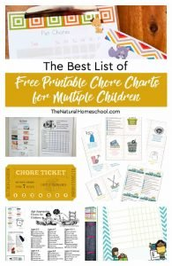 The Best List of Free Printable Chore Charts for Multiple Children