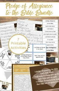 7 Printable Pledge of Allegiance to the Bible Activities