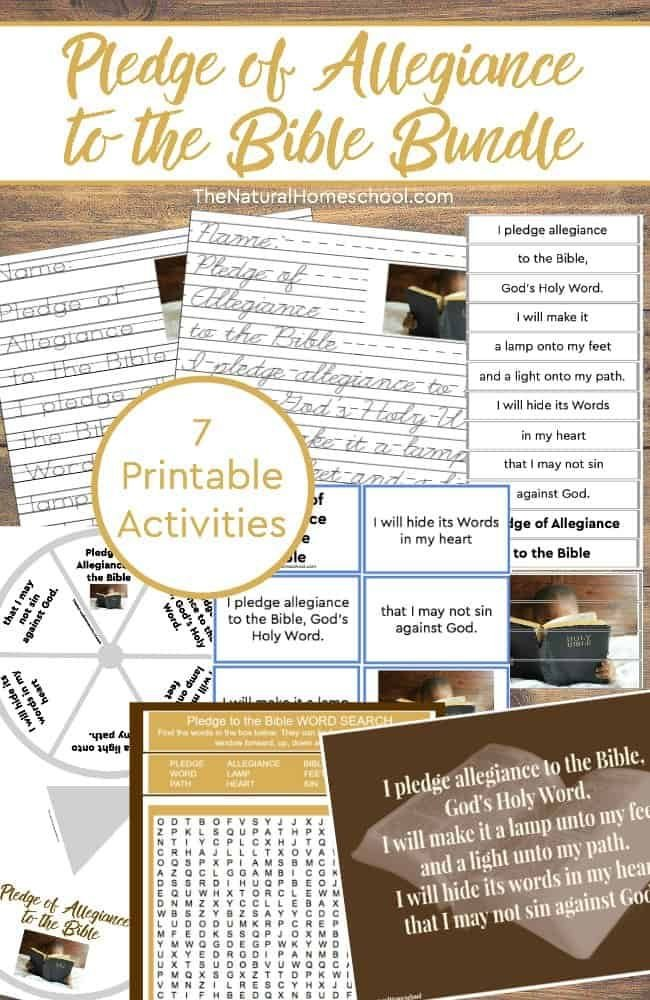 Have you heard about the Pledge of Allegiance to the Bible? Did you know that there is one? We incorporate it into our homeschool daily with this printable bundle because we want to give God's Word the honor it deserves.