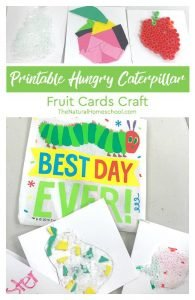 Printable Hungry Caterpillar Fruit Cards Craft