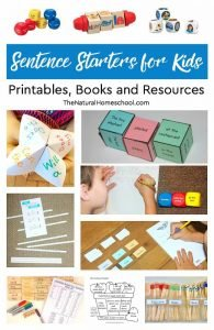 Sentence Starters for Kids ~ Printables, Books and Resources