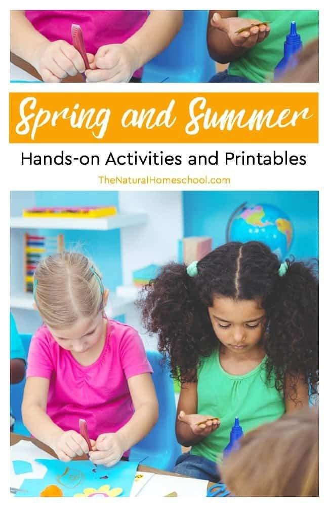 In this post, we have a list of really fun and easy Spring and Summer hands-on activities and printables. I think you and your kids will enjoy these ideas very much.