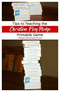 Tips to Teaching the Christian Flag Pledge ~ Printable Game