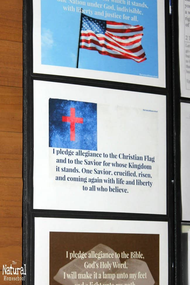 In this post, I'll share with you my thoughts about the Pledge of Allegiance to the Christian flag and why you should teach the Christian flag pledge to your kids. You will also have a chance to download your own printable Christian flag pledge poster to use in your home.