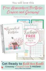 You will love this Free Homeschool Portfolio, Coupon and Giveaway!