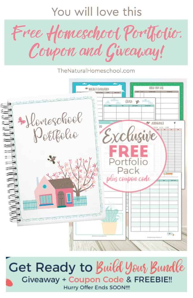 Make sure and get your FREE Homeschool Portfolio Pack - Limited Time Only! Build Your Bundle is offering this incredible free download for you!