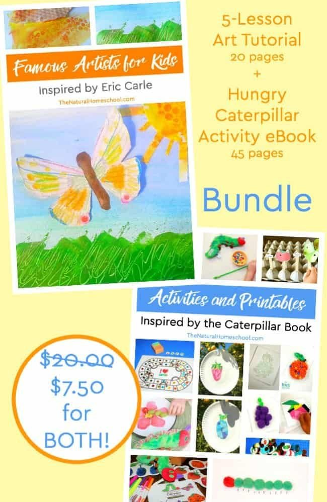 Here, you will get a chance to get a super awesome deal on an Art Tutorial Inspired by Eric Carle and The Very Hungry Caterpillar Printable Bundle! You've come to the right place!