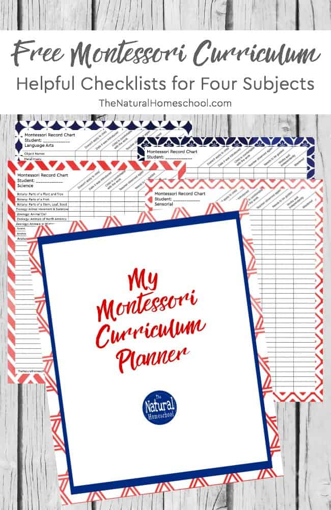 Here is a free Montessori curriculum PDF download for parents doing Montessori at home. It targets ages 3-6 and has been created to help you succeed at planning and teaching your children using the Montessori method!