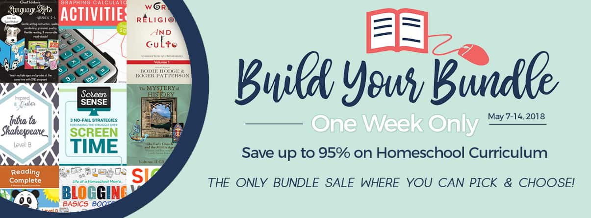 The 2018 Build Your Bundle Sale has started! It's bigger than ever before, with lower prices.