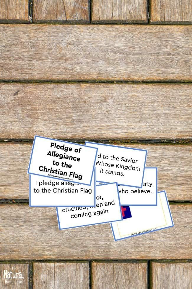 We are so excited to have made this Christian flag pledge of allegiance an actual unit study! Many of you have been looking for something like this and have been asking for it for years. Well, here it is!
