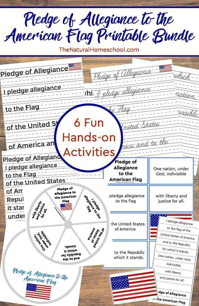 This big printable bundle includes the Pledge of Allegiance to the American Flag, to the Christian Flag and to the Bible.