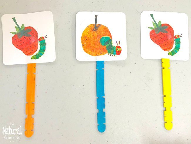 Here is another very hungry caterpillar activity! We just can't get over that awesome children's book and so we keep the ball rolling!