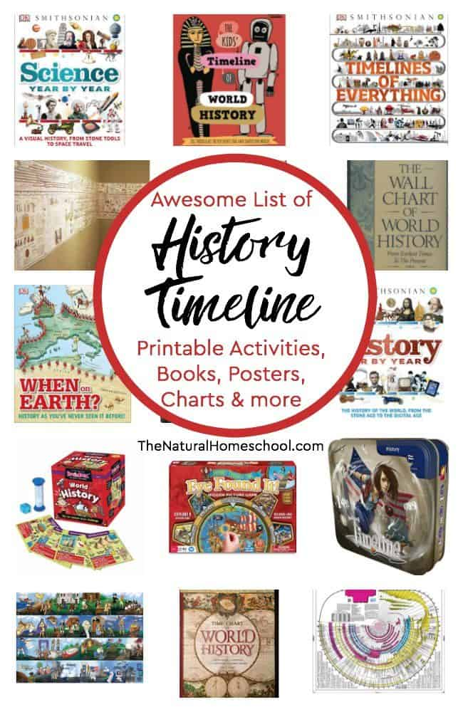 image relating to Printable History Timeline named Listing of Historical past Timeline Printable Things to do, Guides