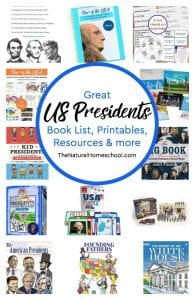 Great US Presidents Book List, Printables, Resources & more