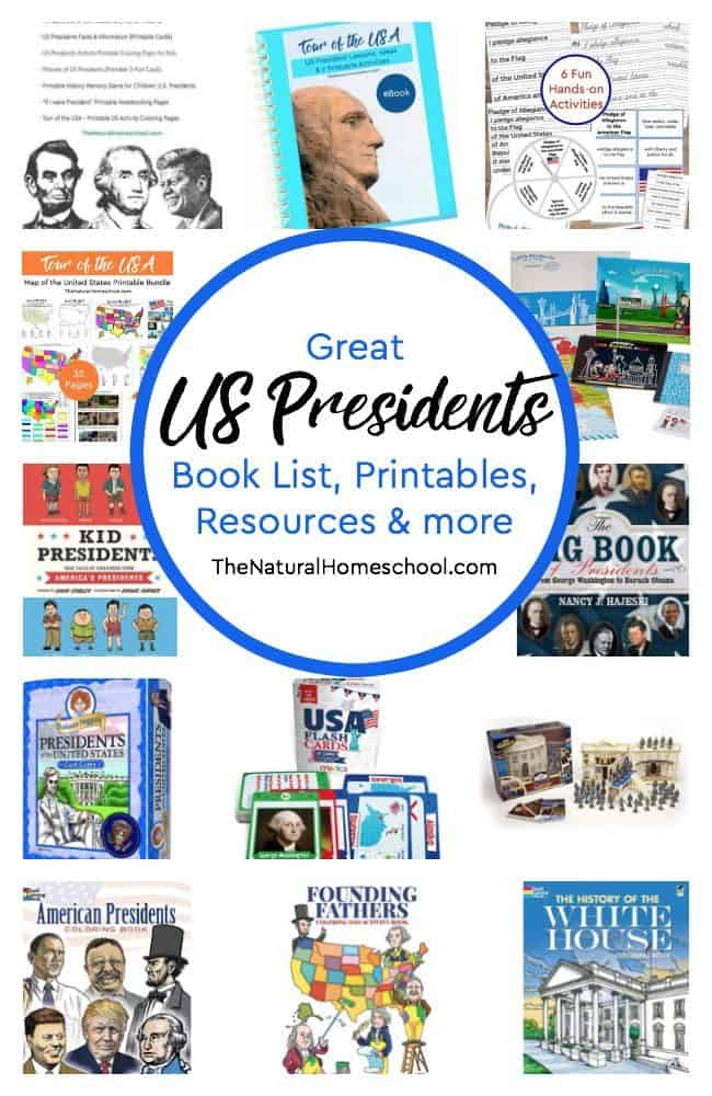 In this post, we will share with you a US Presidents book list, printables, resources and more! With this, you will have everything you need for a complete unit study of US Presidents.