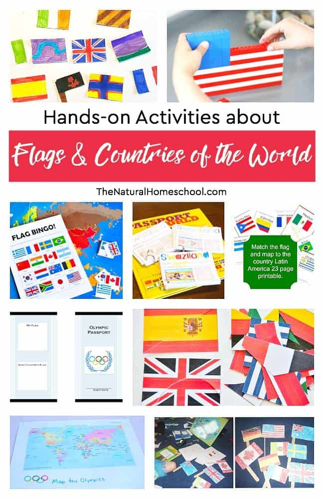 In this post, we have a great list of awesome hands-on activities about flags & countries of the world! We hope that this list will be a great inspiration for parents with some lovely Geography lessons, ideas and printables.