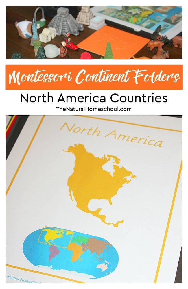 In this post, we will discuss a great way to collect and store facts on North America. It includes a free printable of our Montessori Continent Folder series!
