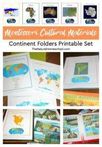 Montessori Cultural Materials ~ Continent Folders Printable Set