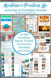 10 Printable Montessori Practical Life Ideas
