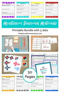 Printable Montessori Sensorial Materials Bundle ~ 30 Pages