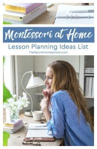 Montessori at Home Lesson Planning Ideas List