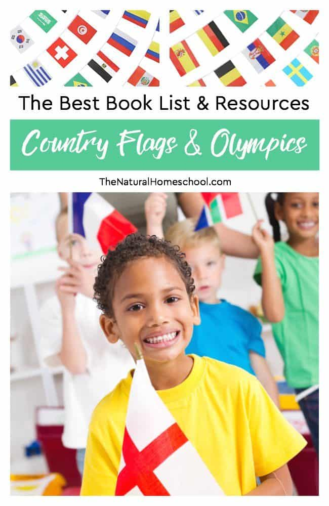 Kids will love to learn about the flags of the world with these colorful books and ideas as well as learn about the Summer and Winter Olympics.