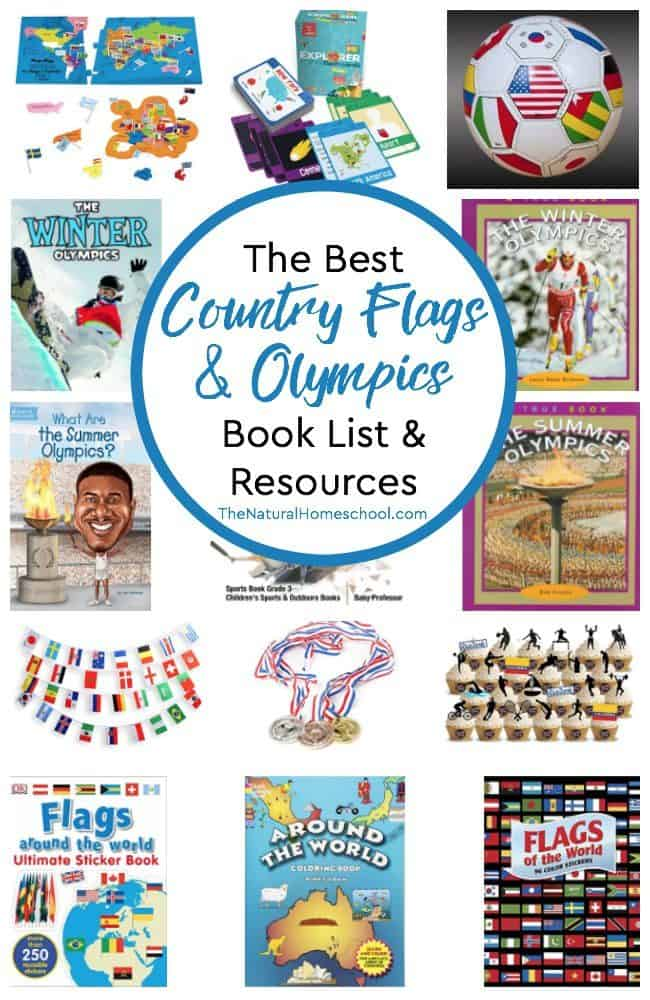 Welcome to the best country flags & Olympics book list and resources! Kids will love to learn about the flags of the world with these colorful books and ideas as well as learn about the Summer and Winter Olympics.
