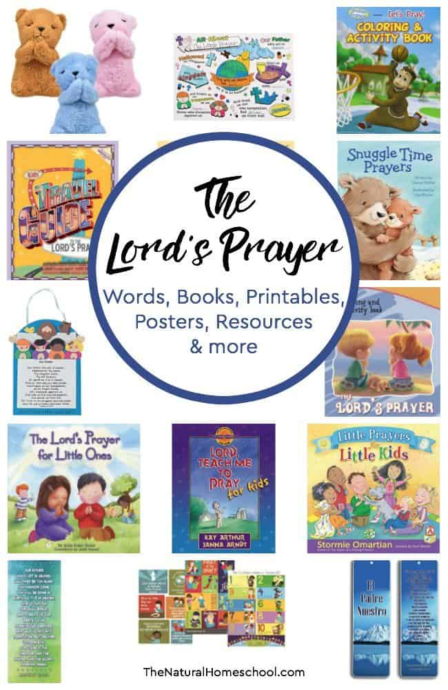 The Lord's Prayer words are very special and in this post, we share a list of helpful books, posters, printables, resources and more!