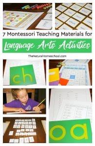 7 Montessori Teaching Materials for Language Arts Activities