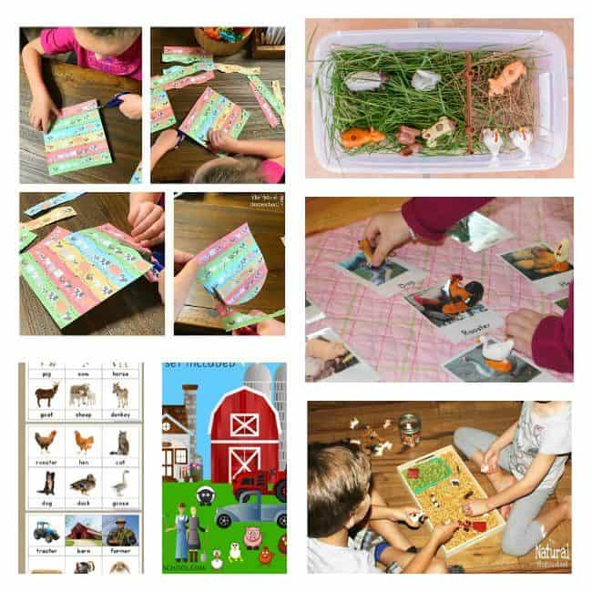 In this post, you will see an awesome list of farm animal pictures, printables and hands-on learning activities that your kids will love!