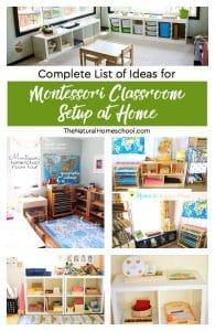 Complete List of Montessori Classroom Setup at Home Ideas