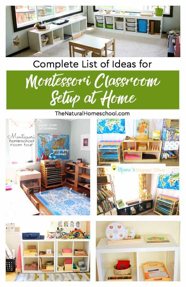 Are you doing Montessori at home? Then you will love this complete list of Montessori classroom setup at home ideas!