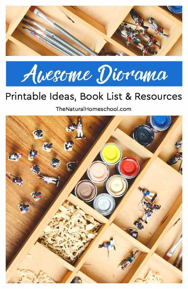 Take a look at this set of diorama printable ideas, book list and resources! You and your kids will have a blast with of of these ideas!