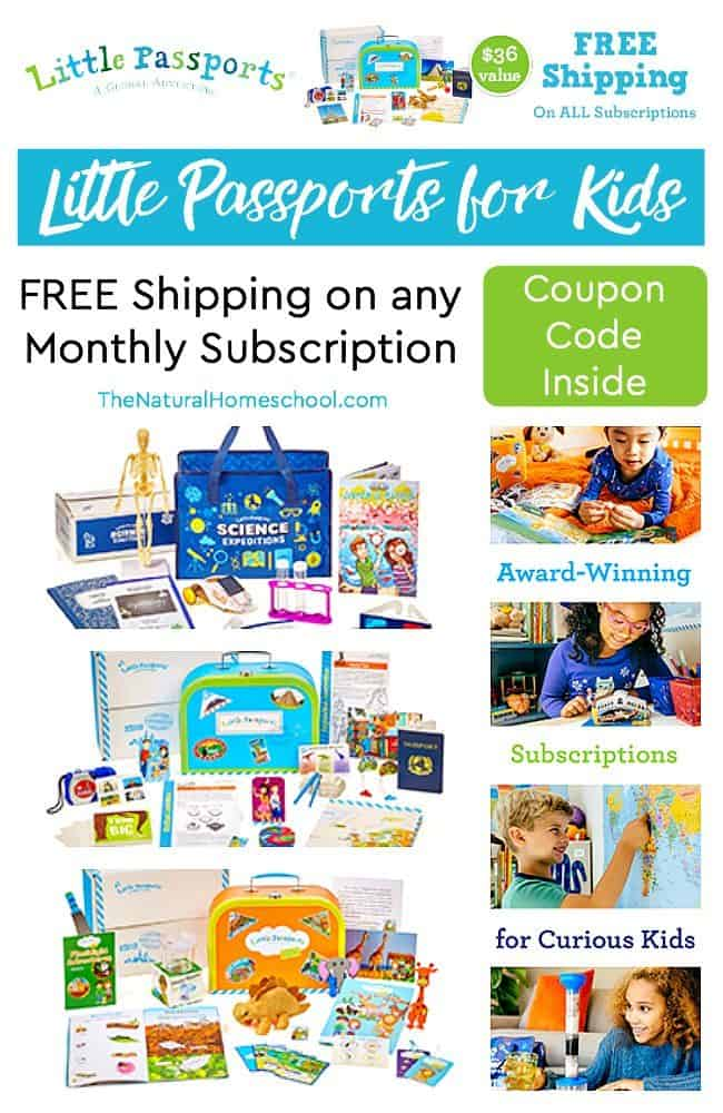 We are so excited about this one monthly subscription: Little Passports for Kids of all ages! There are several different options for monthly subscriptions.
