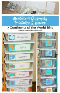 Montessori Geography Printables & Lessons ~ 7 Continents of the World Bins