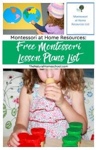Montessori at Home Resources: Free Montessori Lesson Plans List